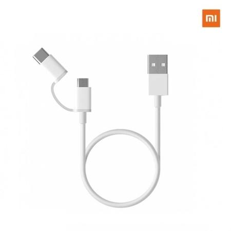 Xiaomi - Xiaomi 2 In 1 Usb Kablo Micro Usb Ve Usb C (type C - 30 Cm)